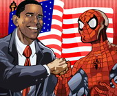 Obama und Spiderman